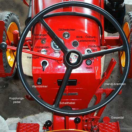 Cockpit Porsche Diesel Junior 109 G